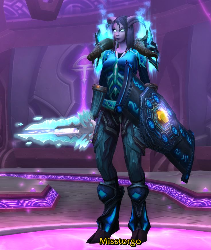 Icy Blue Tank | The Cranky Tank's Warrior Transmog Pieces