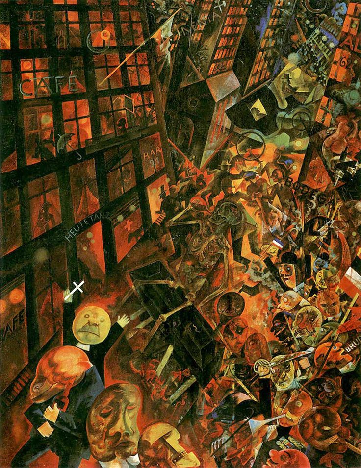 George Grosz | 'The Funeral' 1917-18