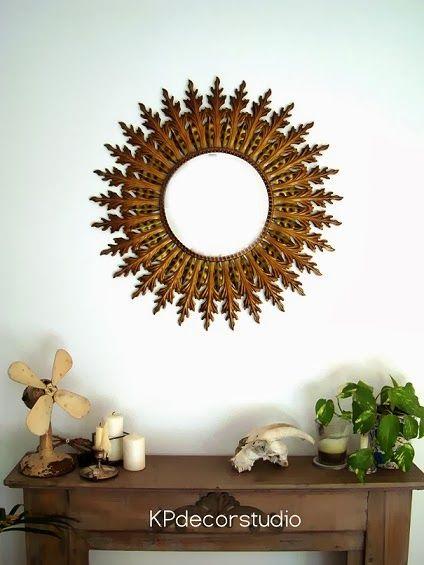 vintage sun mirror espejo sol dorado compralo http