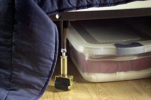 Shepherd Hardware 9532 6-Inch Adjustable Bed Risers, 2-Pack //http://bestadjustablebed.us/product/shepherd-hardware-9532-6-inch-adjustable-bed-risers-2-pack/