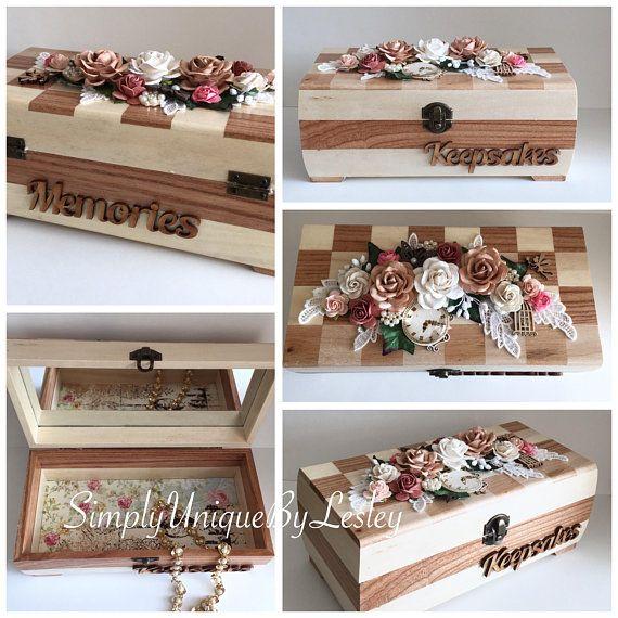 Shabby style wooden Keepsake box chinaberry wood poplar