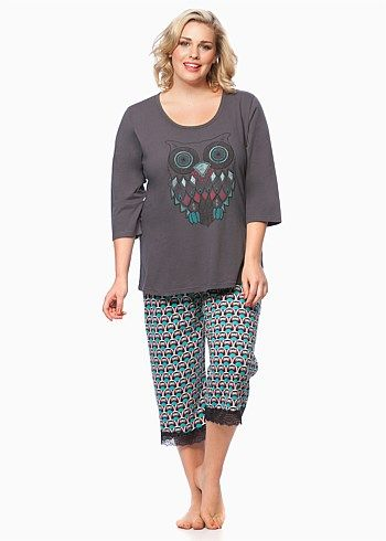Jewel Owl PJ Set #taking shape #sleepwear #curvy