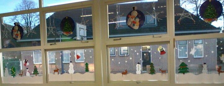 raamdecoratie winter knutselen pinterest