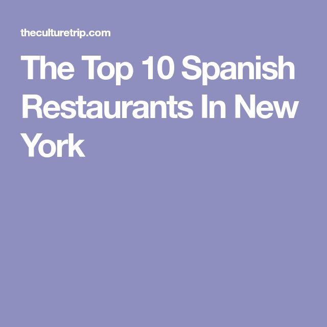 The Top 10 Spanish Restaurants In New York