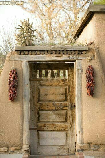 Rustic Old Southwest Entry & 880 best Adobe and territorial style images on Pinterest | Santa fe ...