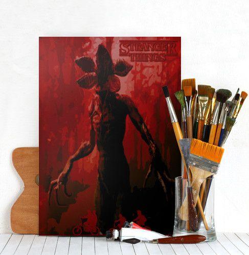 Stranger Things Poster. #strangerthings  #80s #style #horror #scifi #design #series #dark #red #tvseries #poster #tvseriesposter