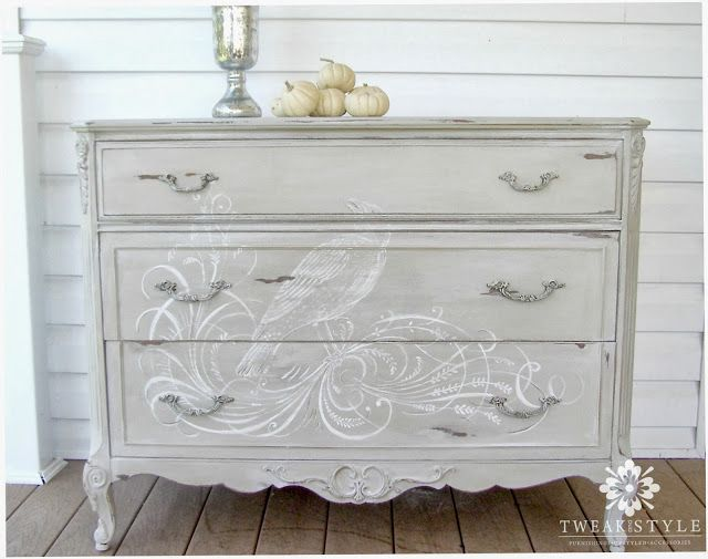 The Hand Painted Dresser: How to Add a Hand Painted Element to Your Next Furniture Make Over