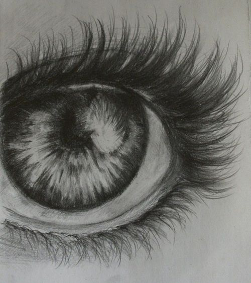 Example of monochromatic pencil drawing