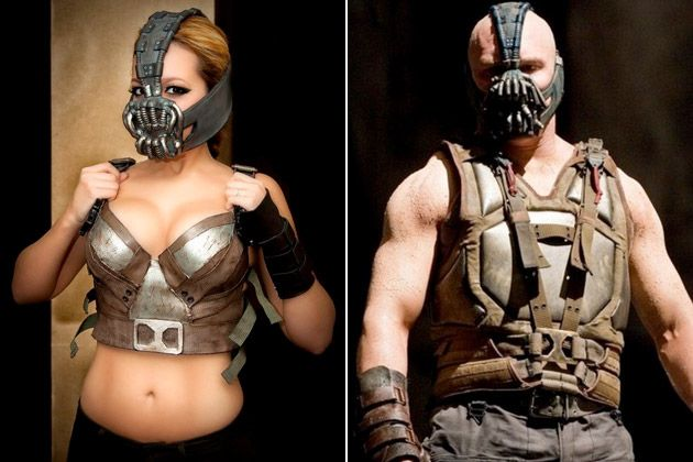 "Nicole Marie Jean is a self-described ""Cosplayer, costume-maker, designer, sculptor, gamer & geek"" who had been working on her Bane costume for a few months before unveiling it at Super Megafest in Massachusetts last week"