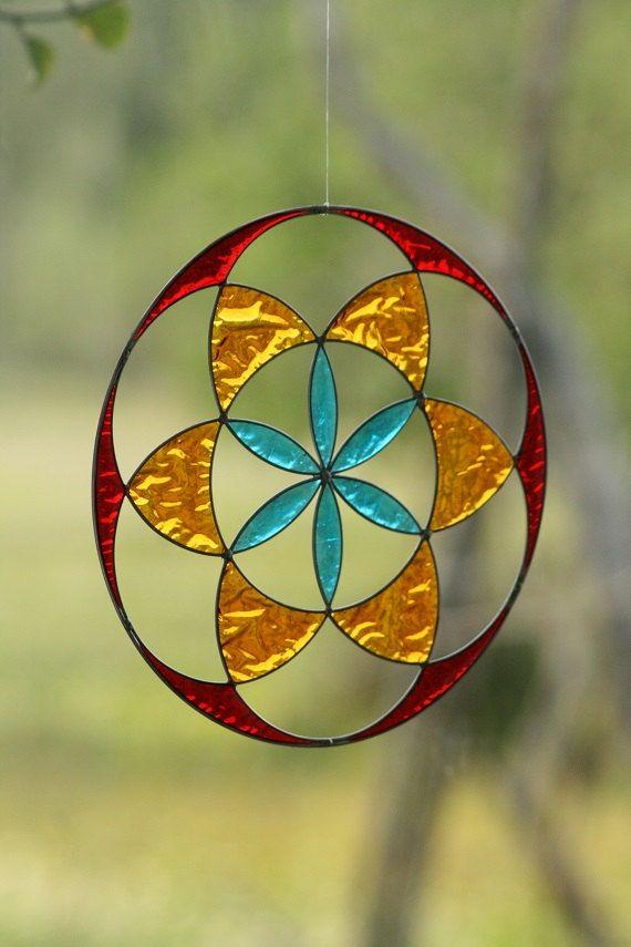 suncatcher seed of life mandala sacred geometry by Mownart on Etsy, $28.00