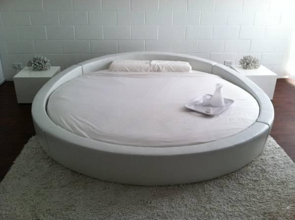 Opus - Modern Round Leather Bed - Modern Bedroom - Bedroom