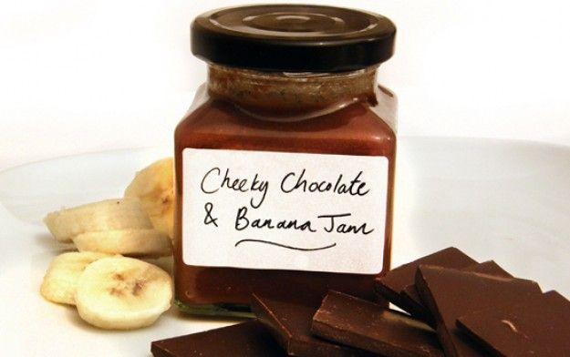 chocolate spread, banana jam, chocolate and banana