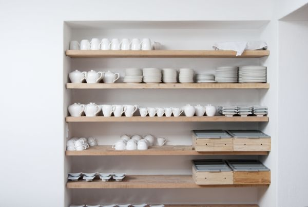 Beautiful storage - but must make sure we have pretty bowls and plates to store haha.
