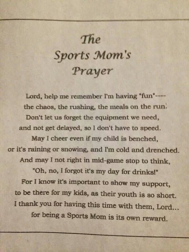 Twinshappy: Sports Mom's Prayer