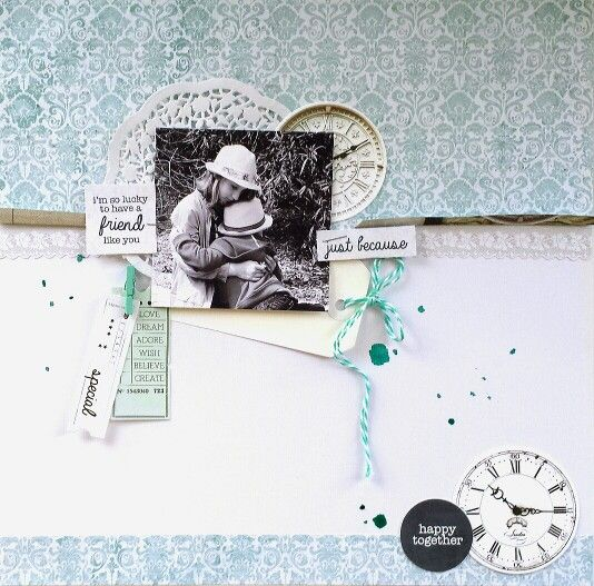 Kaisercraft : Provincial Collection : Happy Together layout by Amanda Baldwin