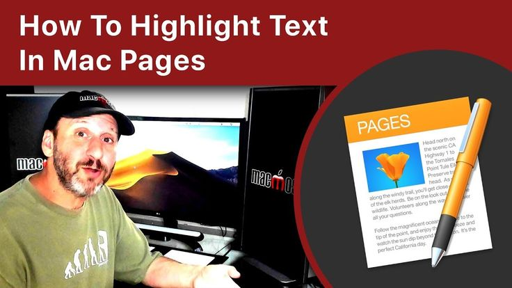 How To Highlight Text In Mac Pages (With images) | Highlights, Mac, Texts