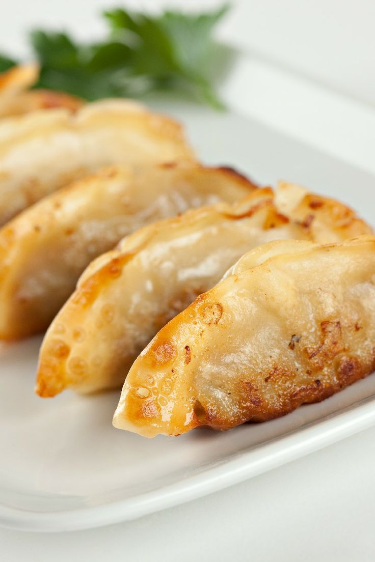 Vegetarian pot stickers appetizer | Not so healthy yummy snacks | Pin ...