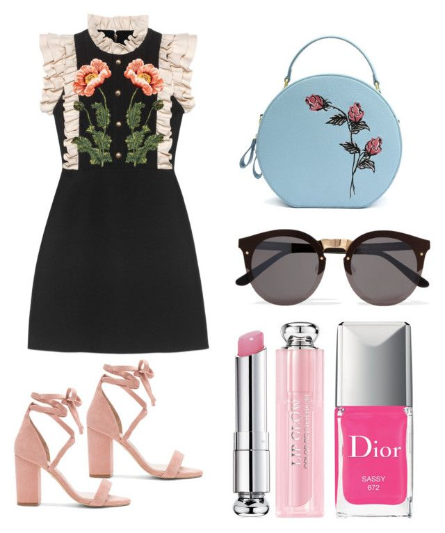 """Frilly delight"" by penkreitto on Polyvore featuring Gucci, Illesteva, Christian Dior and Raye"