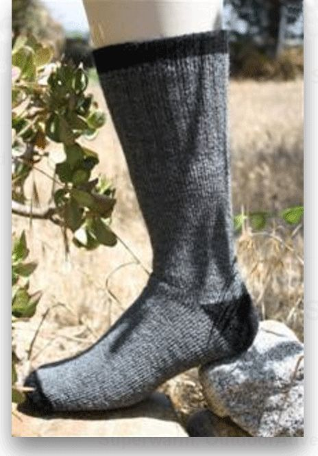 Alpaca is an excellent choice for warm socks due to it's strength and hollow insulating core. These socks are made with a terry inner design for added warmth an