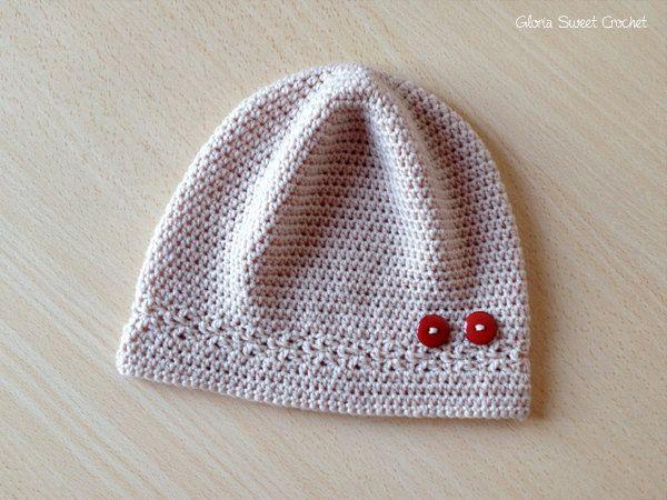 """Cappello leggero """"Marta"""" da ragazza, realizzato a uncinetto. di GloriaSweetCrochet su Etsy https://www.etsy.com/it/listing/472612509/cappello-leggero-marta-da-ragazza"""