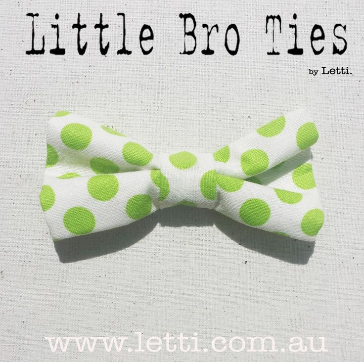 Friday Fun Time!  Loving our FRESH Little Bro Tie 'Polka' Bow Tie. PERFECT for Christmas!!  All Little Bro Ties are only $12 with FREE p&h within Australia.  Head over to www.letti.com.au