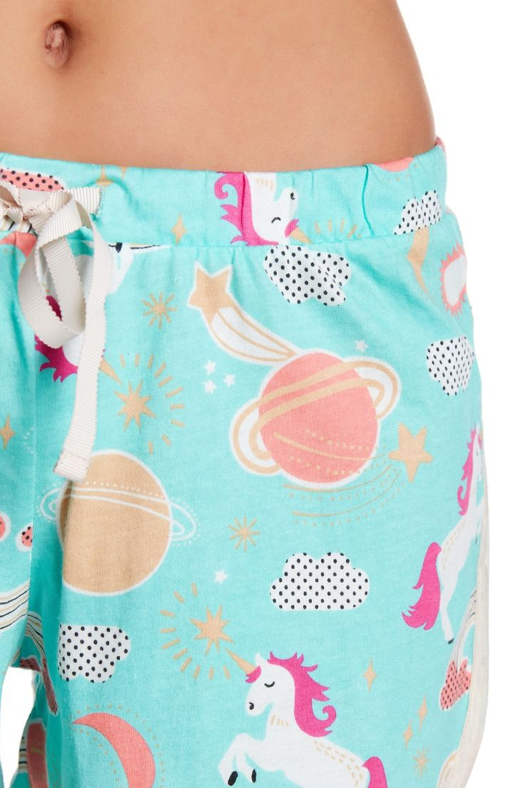 PJ Couture - Unicorn Gym Class Print Pajama Set is now 50% off. Free Shipping on orders over $100.