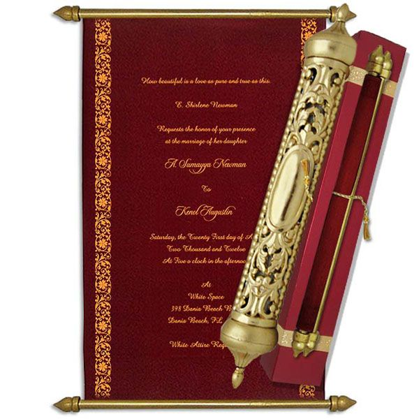 Royal Scroll Invitations Scroll Invitation Scroll Wedding Invitations Wedding Scroll