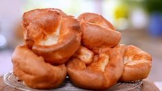 Mary Berry's pillowy Yorkshire puds. Ready made are ok to keep in the freezer but nothing beats Yorkshires made from scratch
