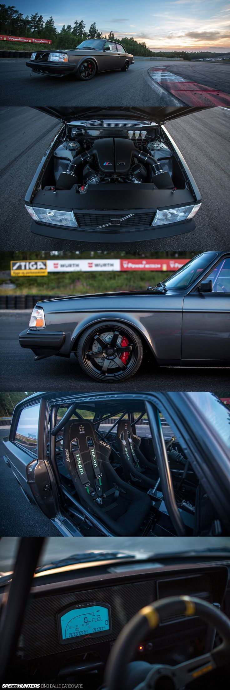 Volvo 242 Coupe with a BMW V10 and Porsche Brakes