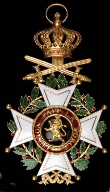 Order of Leopold (military), Grand Cross sash badge.