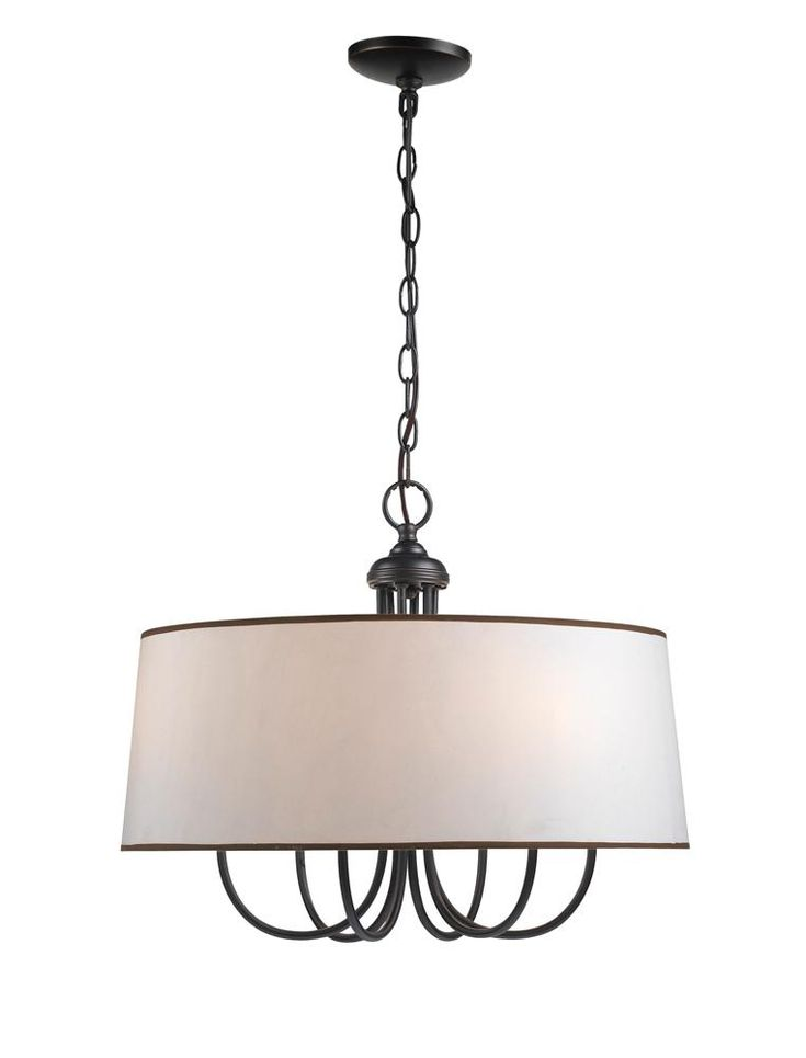 Classic, elegant lighting - drum shade chandelier pendants priced on a budget!