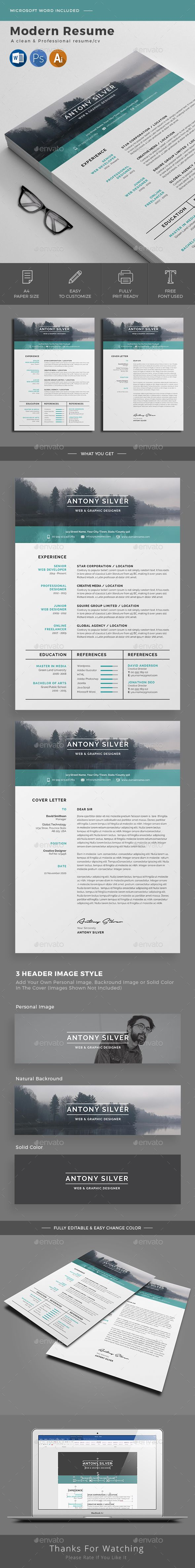 Resume - Resumes Stationery - Download ; https://graphicriver.net/item/resume/20711642?ref=jpixel55