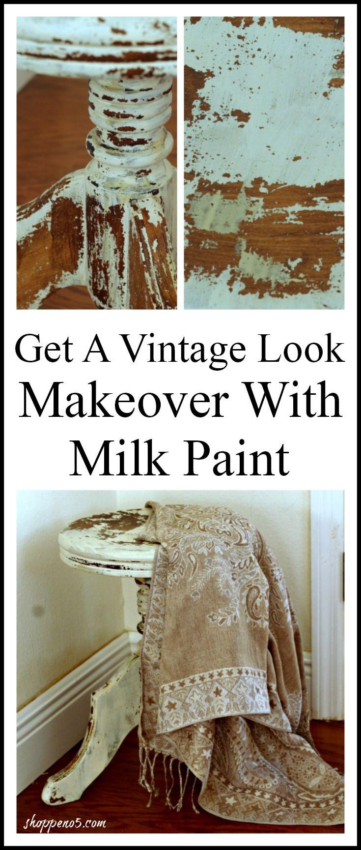 Get A Vintage Look Makeover With Milk PaintEdit description