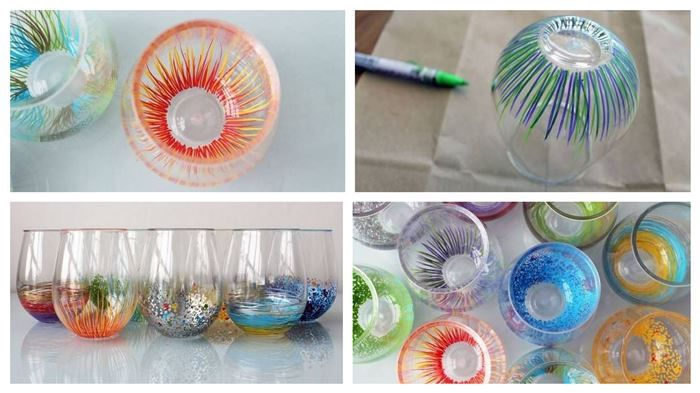 This is a fairly simple DIY! To make these creative and bright glasses, all you need are some markers that are made to be written on glass and some creativit...