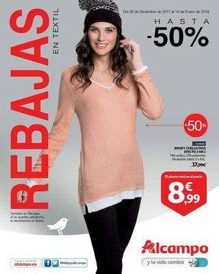 Rebajas en textil en Alcampo del 26 de diciembre al 14 de enero -  Nuevo catálogo Alcampo en textil con rebajas de hasta el 50% de descuento. Ofertas válidas del 26 de diciembre al 14 de enero de 2018.    #CatálogosAlcampo, #Catálogosonline   Ver en la web : https://ofertassupermercados.es/rebajas-textil-alcampo-del-26-diciembre-al-14-enero/