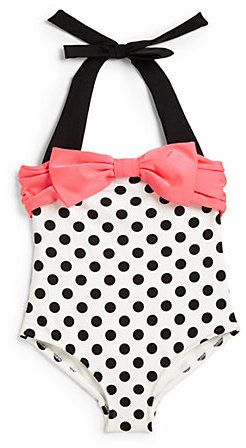 Love U Lots Toddler's & Little Girl's One-Piece Polka Dot & Bow Swimsuit on shopstyle.com