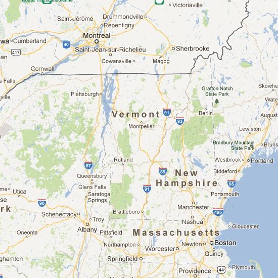 Vermont Covered Bridge Map