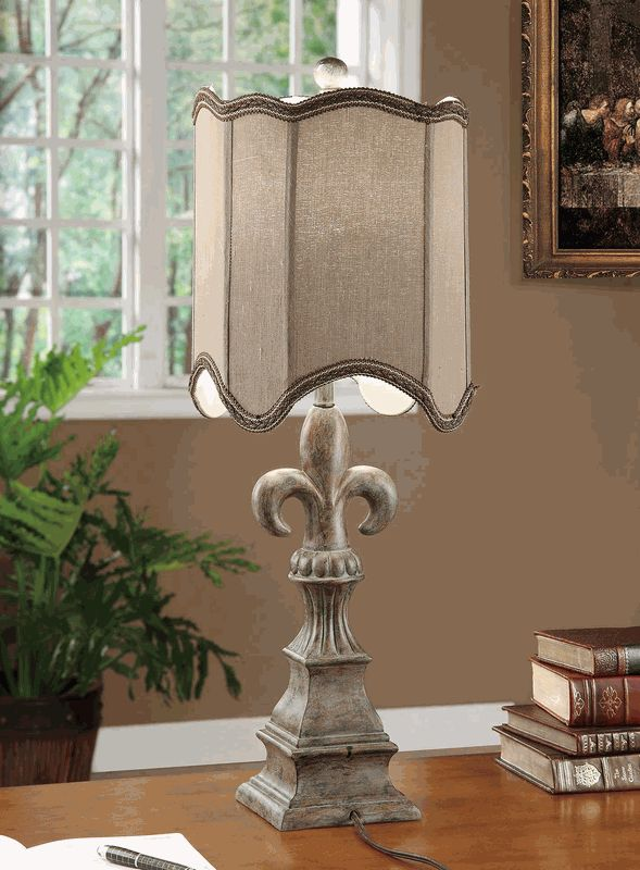 Exceptional Tuscan Inspired Fleur De Lis Table Lamp