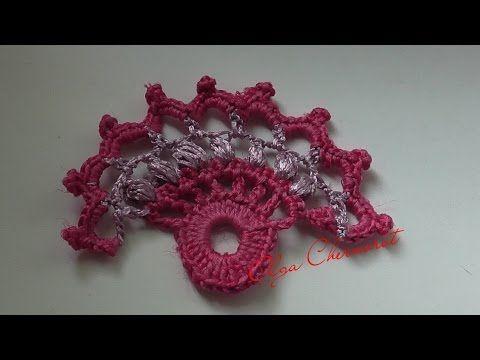 Ирландское кружево, мотив. Экзотический цветок. Мотив вязаный крючком, можно…