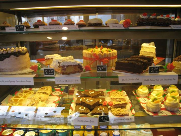 Another view of the daily selection of pastries