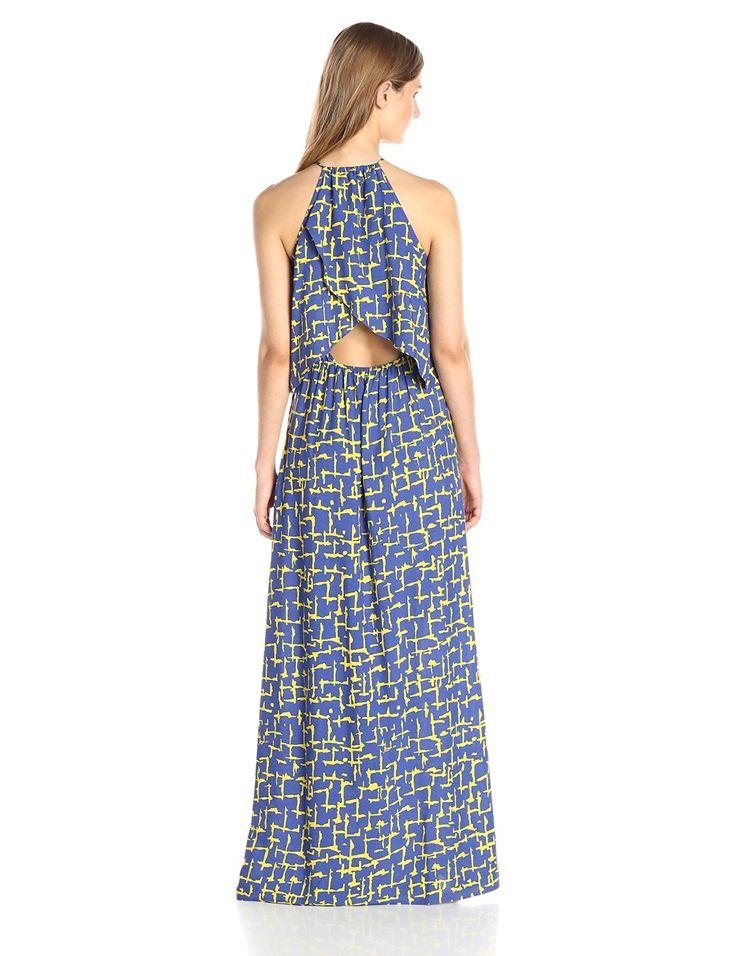 Lark & Ro Women's Sleeveless Tie-Front Halter Maxi Dress at Amazon Women's…