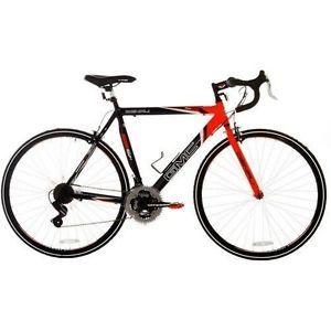 """Mens Road Bike Bicycle GMC Denali 700C 22.5"""" Black Orange 21 Speed Shimano Light"""