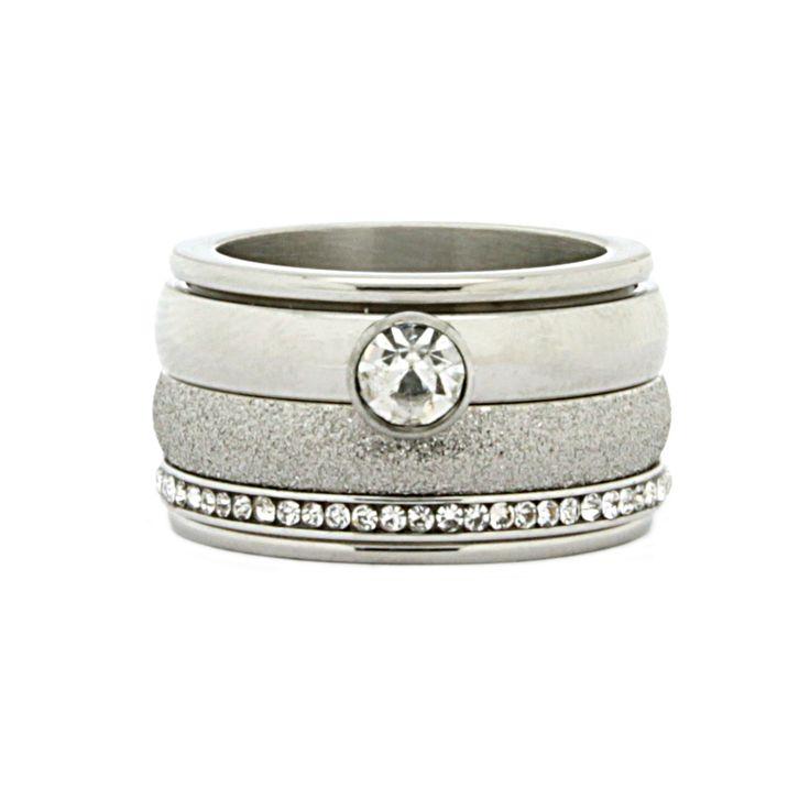 iXXXi JEWELRY Zirkonia Crystal Silver