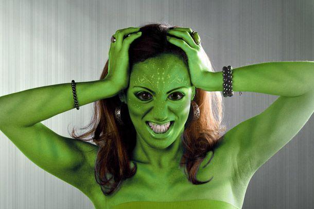 Green Skin Face Paint