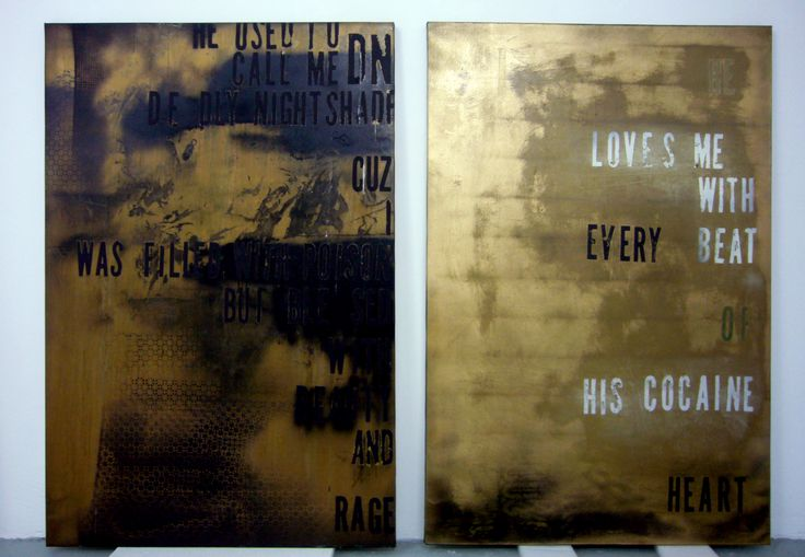 two black/gold by Michael Bevilacqua - 2014