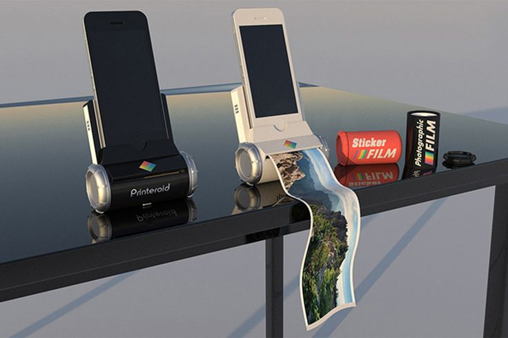 """The Printeroid, is a smart portable printer that can be connected to any Apple device and print. The Printeroid works with an app called """"PMS"""" (Printeroid Messaging Service). In addition to pictures, this mini printer can also print tickets for transportation, business cards, and stickers."""