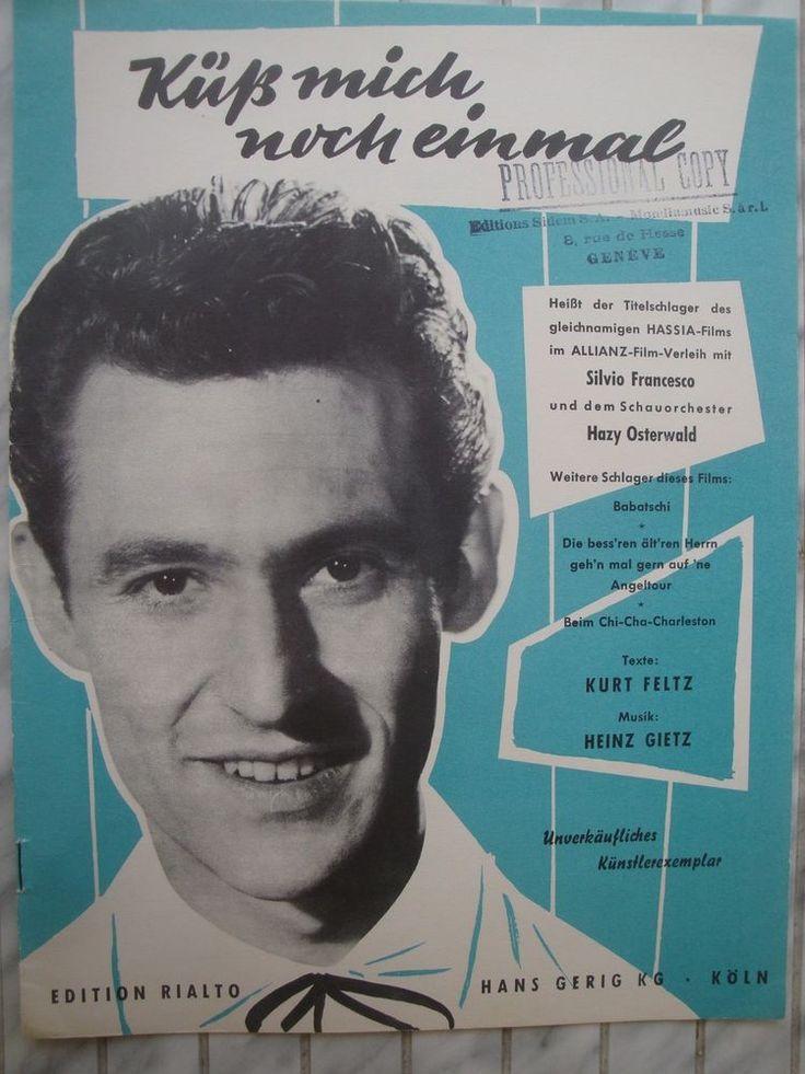 HAZY OSTERWALD - KÜSS MICH NOCHMAL - HEINZ GIETZ - FILM SONGBOOK 1956 | eBay