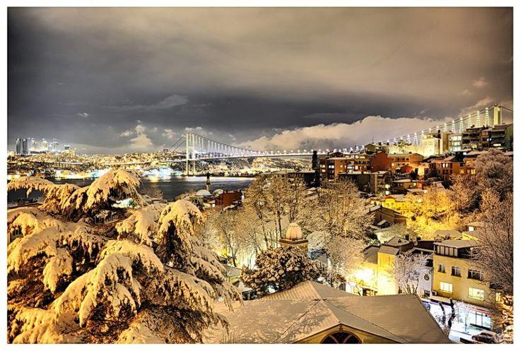 Snowy Istanbul Kuzguncuk