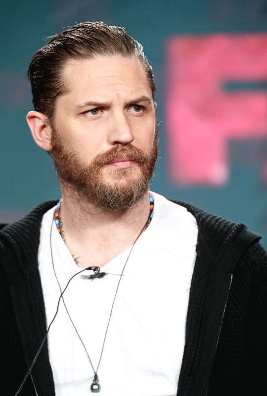 Tom Hardy of the television show 'Taboo' speaks onstage during the FX portion of the 2017 Winter Television Critics Association Press Tour at Langham Hotel on January 12, 2017 in Pasadena, California.