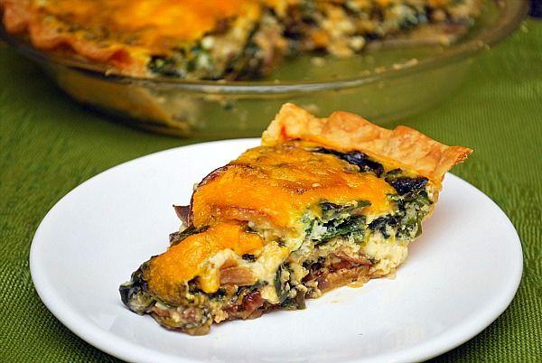Spinach & Mushroom Quiche | My recipes | Pinterest
